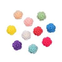 80 piecess resin rose flower flatback cabochon scrapbook