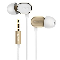 akg premium in ear headphone gold n20