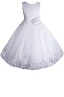amj dresses inc big girls white flower communion dress