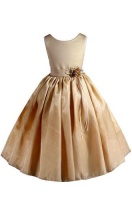 amj dresses inc little girls elegant gold flower pageant