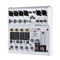 ammoon 8 channel sound card digital audio mixer mixing