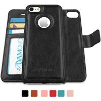 amovo iphone 7 case wallet detachable