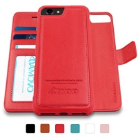 amovo iphone 8 case 2 in 1 wallet detachable
