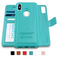 amovo iphone x case 2 in 1 wallet detachable