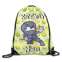 birthday ninja women lightweight gym drawstring backpack