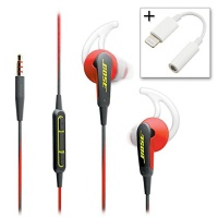 bose soundsport in ear headphones apple devices power red
