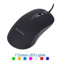 braveman usb wired optical mouse 7 adjustable dpi level