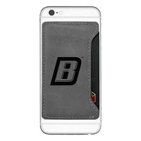 bryant university cell phone card holder grey