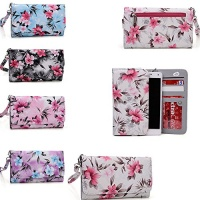 cream cell phone holder wallet with wrist strap universal