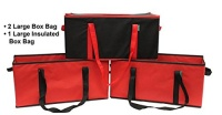 earthwise collapsible reusable grocery bag box set 3 piece