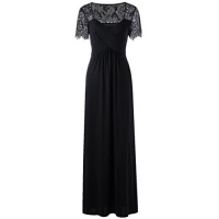 funic plus size womens long sleeve lace dress evening
