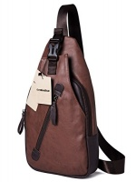 genbagbar large leather cross body chest bag shoulder