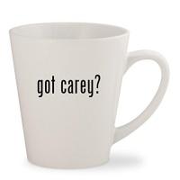 got carey white 12oz ceramic latte mug cup