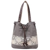 hiigoo printing canvas shoulder bag retro casual handbags