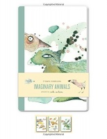 imaginary animals blank notebooks set of three 48 page