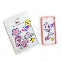 iphone 6 bumper case 3d pink with stickers elegant and