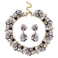 jane stone fashion gold collar necklaces bling rhinestone