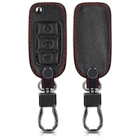 kwmobile leatherette case for 3 button car key cover