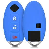 kwmobile silicone cover for 3 button car key protection