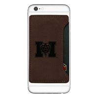 mercer university cell phone card holder brown
