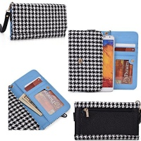 phone wallet cell holder with wrist strap for