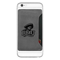 robert morris university cell phone card holder grey