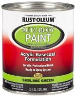 rust oleum 275235 sublime green automotive auto body paint