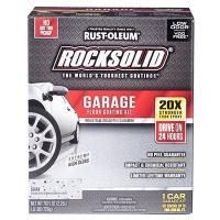 rust oleum rocksolid garage floor coating kit gray 60003