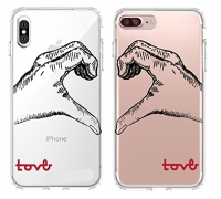 shark love hand signed matching couple cases for iphone x