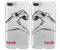 shark love hand signed matching couple cases for left