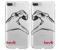 shark love hand signed matching couple cases for two case