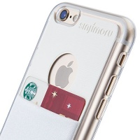 sinjimoru transparent hard case with card holder for apple