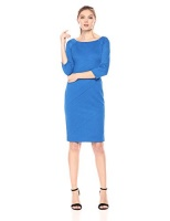 taylor dresses womens 34 sleeve stretch knit jacquard midi
