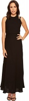 taylor dresses womens georgette maxi sleeveless dress black