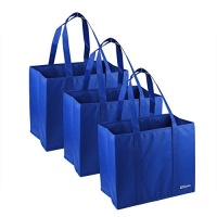 uname 3 piecess large collapsible shopping box blue
