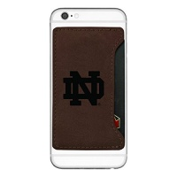 university of notre dame cell phone card holder brown