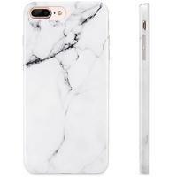white iphone 7 plus case marble design 8