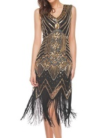 womens 1920s art deco flapper dresses vintage inpired