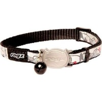 rogz catz reflectocat 11mm small reflective safeloc collars leash