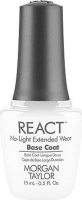 morgan taylor react base coat no light extended wear 15ml cosmetics makeup
