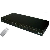 aavara pm4x2 matrix switch 4 devices to 2 displays decoders receiver