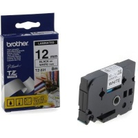 brother tz 231 p touch laminated tape black on white labeling system