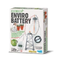 4m green science enviro battery learning toy