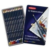 derwent watercolour pencils 12 set in metal tin art supply