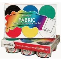 speedball screen printing textile ink starter set of 6 x art supply