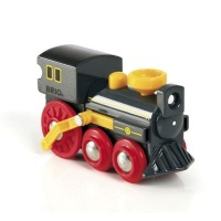 brio old steam engine electronic toy