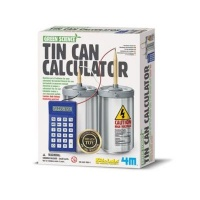 4m green science tin can calculator learning toy