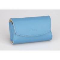 nikon leather camera case blue
