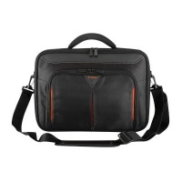 targus classic briefcase for 156 notebooks black and red
