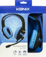 Konix Over Ear Gaming Headphones with Microphone for PS4